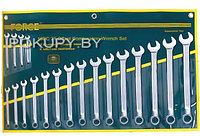 5192 Набор ключей FORCE комбинированных 19 предметов 75 градусов от 6 мм до 24 мм