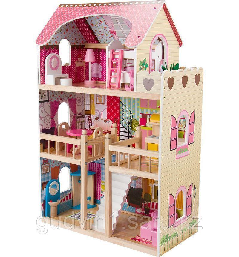 Кукольный дом Edufun с мебелью 90 см EF4109   00-66744