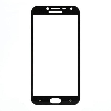 Защитное стекло Samsung J4 2018, Samsung J400 2018 Окантовка Black A-Case, фото 2