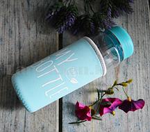 Бутылочка пластиковая с чехлом для напитков My Bottle 500 мл (май батл голубая)