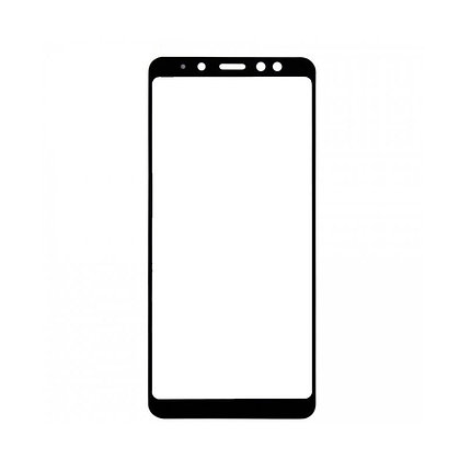 Защитное стекло Samsung J4 Plus 2018, Samsung J4+ 2018, Samsung J415 2018 Окантовка Black A-Case, фото 2