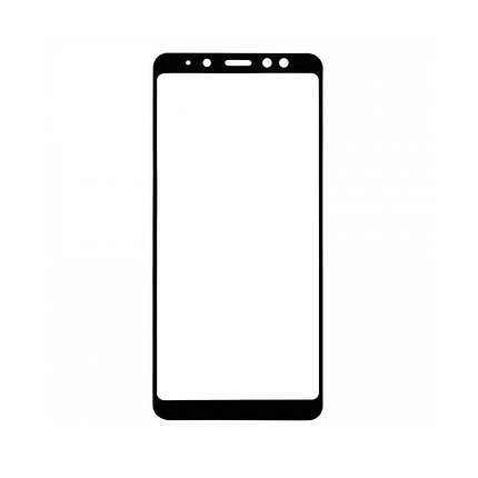 Защитное стекло Samsung J6 Plus 2018, Samsung J6+ 2018, Samsung J610 Окантовка Black A-Case, фото 2
