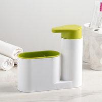 Подставка для ванных и кухонных принадлежностей с дозатором, 6x17,5x19 см, цвет МИКС