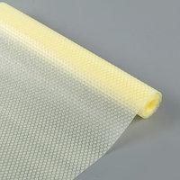 Коврик противоскользящий сервировочный 'Круги' 30х150 см, прозрачный жёлтый