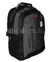 Городской рюкзак SWISSGEAR с дождевиком и USB портом серый 7232