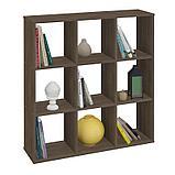 Стеллаж Polini Home Smart Кубический 9 секции, трюфель 01-02903, фото 3
