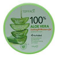 Успокаивающий гель для лица и тела TOP FACE Aloe Vera Soothing Gel 300 ml.