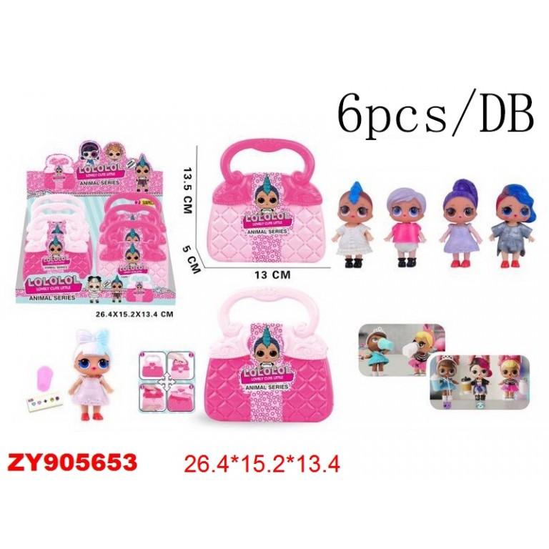 Кукла в сумке 6 шт-упак (КК8801-6*)