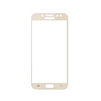 Защитное стекло Samsung J7 2017, Samsung J730 2017, Окантовка Gold A-Case