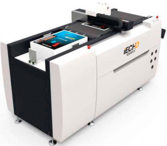 Планшетный  режущий  плоттер с автоматическим вакуумным самонакладом материала iECHO PK-0604