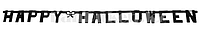 "Картонная гирлянда с буквами ""HAPPY HALLOWEEN"" (для хэллоуина) 1 м чёрная"