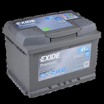 Аккумулятор автомобильный EXIDE Premium EA 612 61Ah