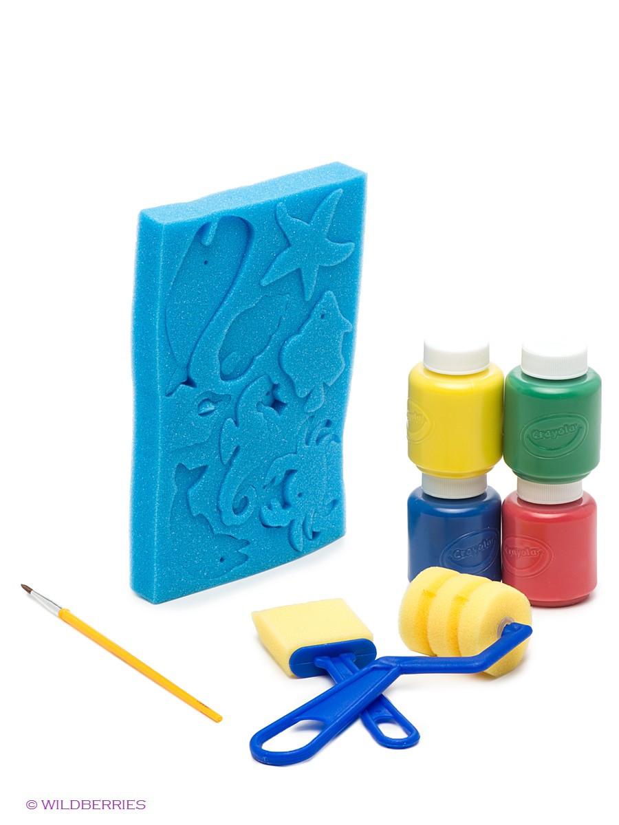 Crayola Набор Для Рисования С Губками Морское Дно