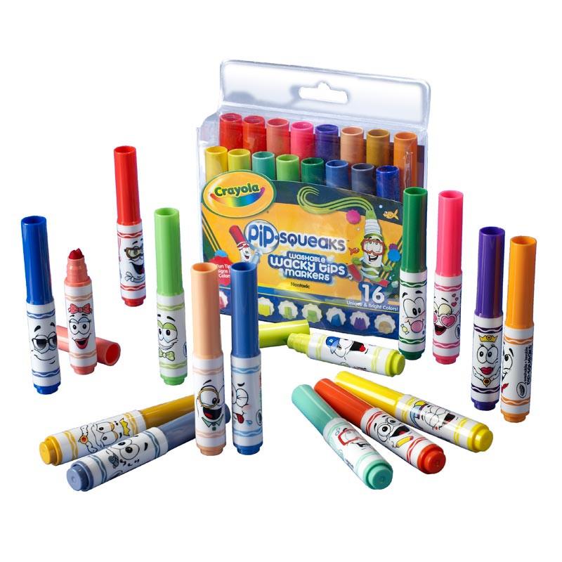 Crayola 16 мини-фломастеров с узорными наконечниками
