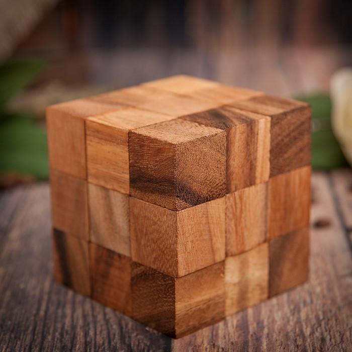 "Головоломка дерево ""Кубик стандарт"" 8х8х8 см"