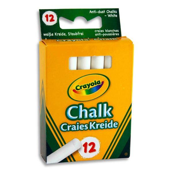 Crayola 12 белых мелков