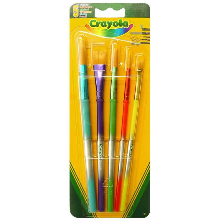 Crayola - кисточки для красок, 5 штук в упаковке