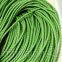 Шнур кожаный, плетеный, 3мм