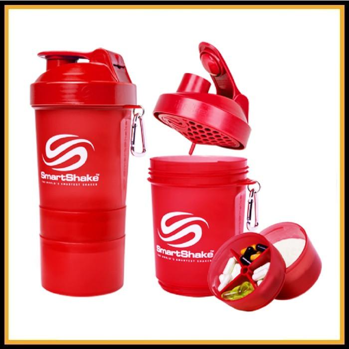 Шейкер Smart Shake Original 400ml 3 в 1 красный