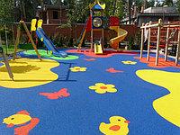 Резиновое тартановое покрытие для детских игровых площадок