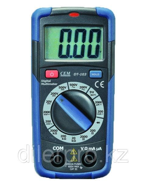Малогабаритный мультиметр CEM DT-103