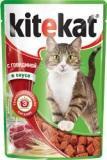 Kitekat с Говядиной в Соусе Китикэт Консервы для кошек, пауч 85г