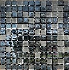 Перламутровая мозаичная плитка зеркально-бежевая