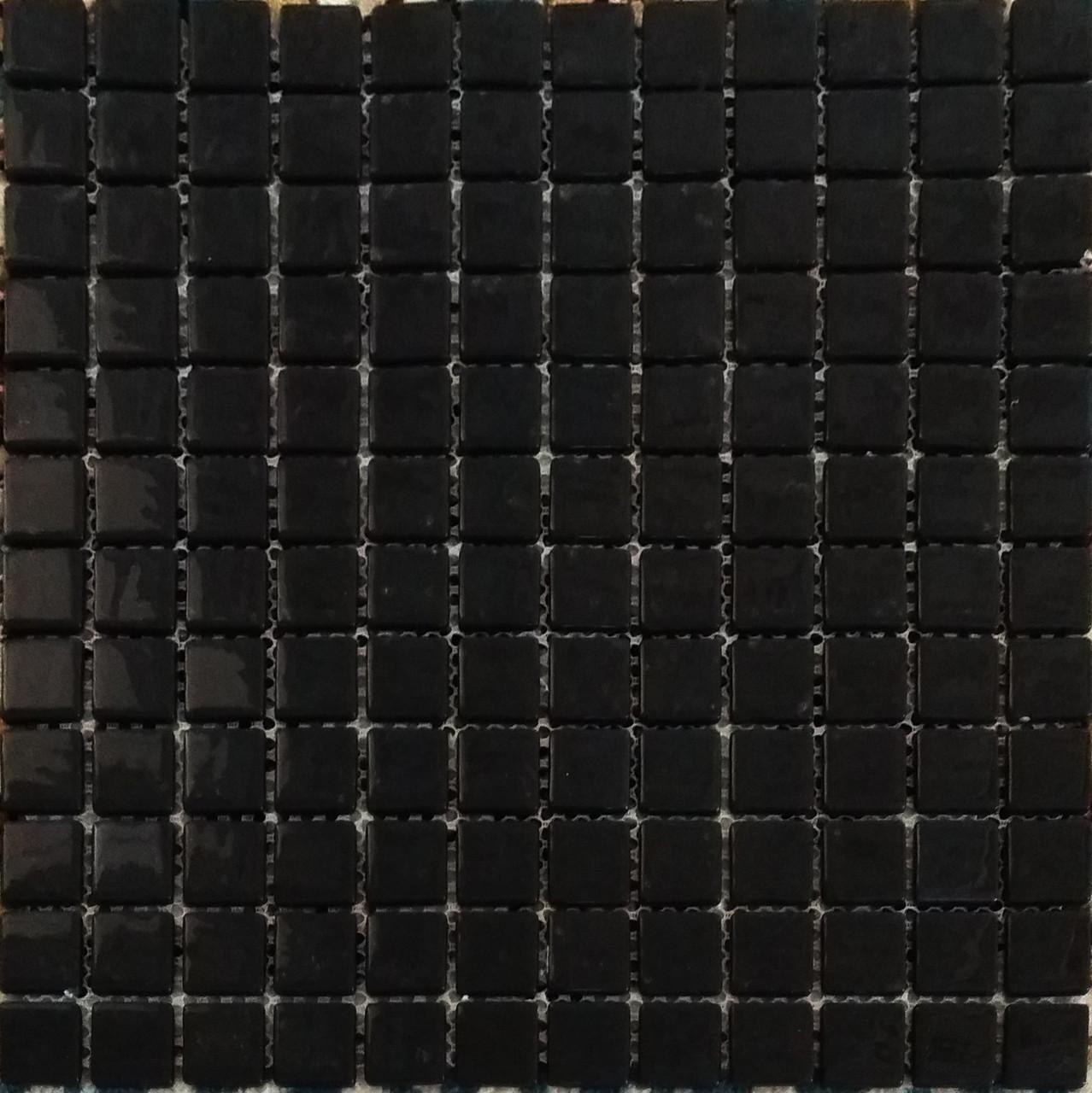 Перламутровая мозаичная плитка чёрная