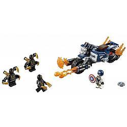 LEGO Super Heroes Конструктор ЛЕГО Супер Герои Капитан Америка: Атака Аутрайдеров