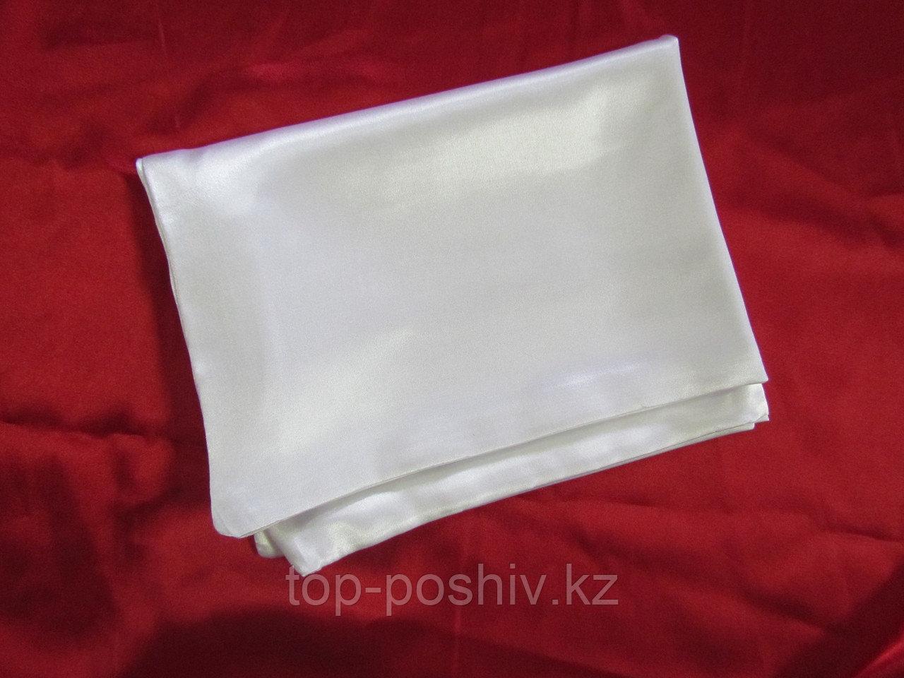 Наволочка белая для сублимации, 40х40 см, атлас