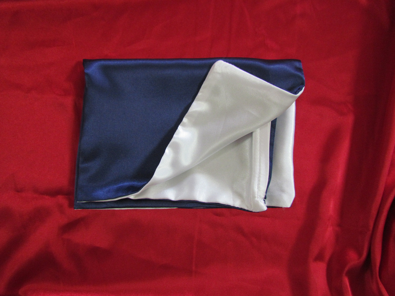 Наволочка двухцветная (бело-синяя) для сублимации, 20х30 см, атлас