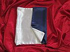 Наволочка двухцветная (бело-синяя) для сублимации, 30х40 см, атлас, фото 2