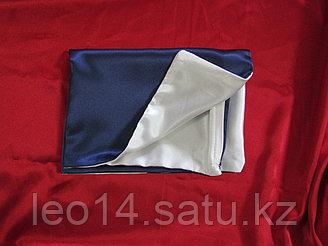 Наволочка двухцветная (бело-синяя) для сублимации, 30х40 см, атлас