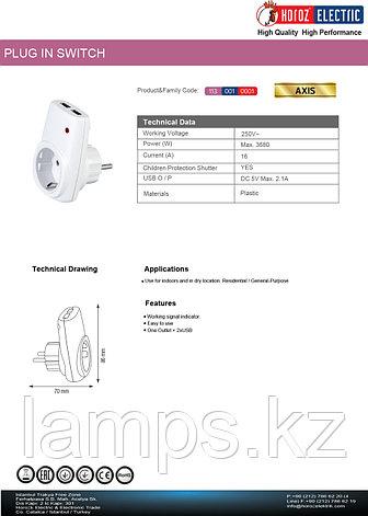 Зарядка-переходник для USB AXIS 16A 5V, фото 2