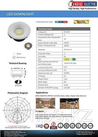 Спот встраиваемый BIANCA 3W белый 4200K , фото 2