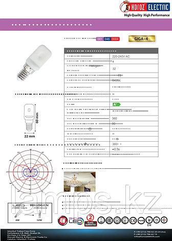 Светодиодная лампа LED GIGA-4 4W 6400K , фото 2