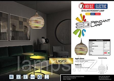 Люстра подвесная светодиодная LASER хром 1M 3D шаровидная, фото 2