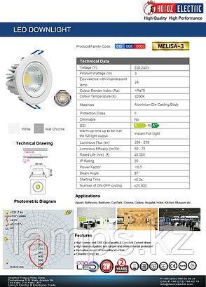 Спот встраиваемый MELISA-3 3W белый 4200K , фото 2