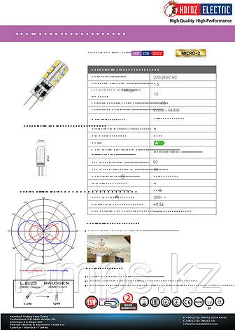 Светодиодная лампа LED силиконовая MICRO-2 1.5W 6400K , фото 2
