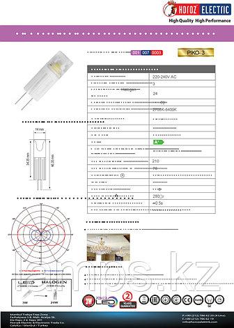 Светодиодная лампа LED PIKO-3 3W 2700K диммируемая, фото 2