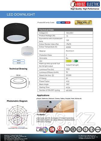 Светильник направленного света накладной SANDRA-15 15W 4200K белый , фото 2