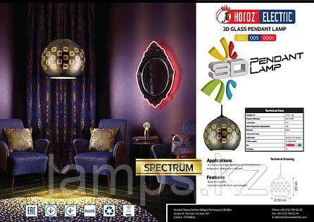 Люстра подвесная светодиодная SPECTRUM хром 1M 3D шаровидная, фото 2