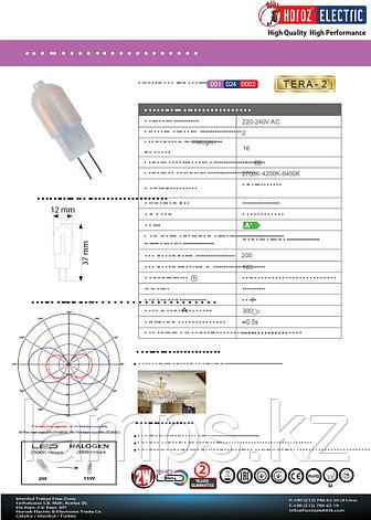 Светодиодная лампа LED TERA-2 2W 6400K , фото 2
