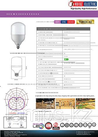 Светодиодная лампа LED TORCH-40 40W 6400K , фото 2