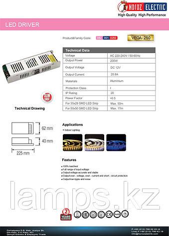 LED драйвер для светодиодов VEGA-250 250W 20.8A , фото 2