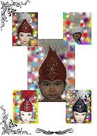 Головной национальный убор для девочек калпак