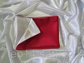 Наволочка двухцветная (бело-красная) для сублимации, 20х30 см, атлас