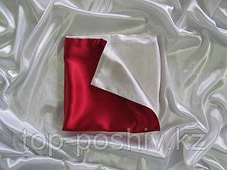 Наволочка двухцветная (бело-красная) для сублимации, 40х40 см, атлас
