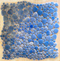 Мозаичная плитка капля Голубой