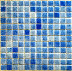 Средняя мозаичная плитка голубо-синий